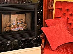 Gas Fireplace Insert Image - Chicago IL - Jiminy Chimney